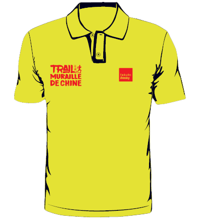 polo trail chine jaune face