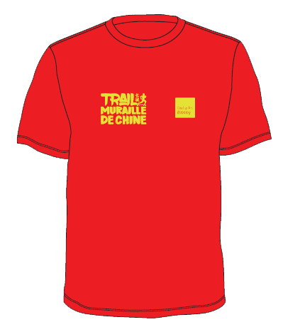 t shirt trail chine rouge face